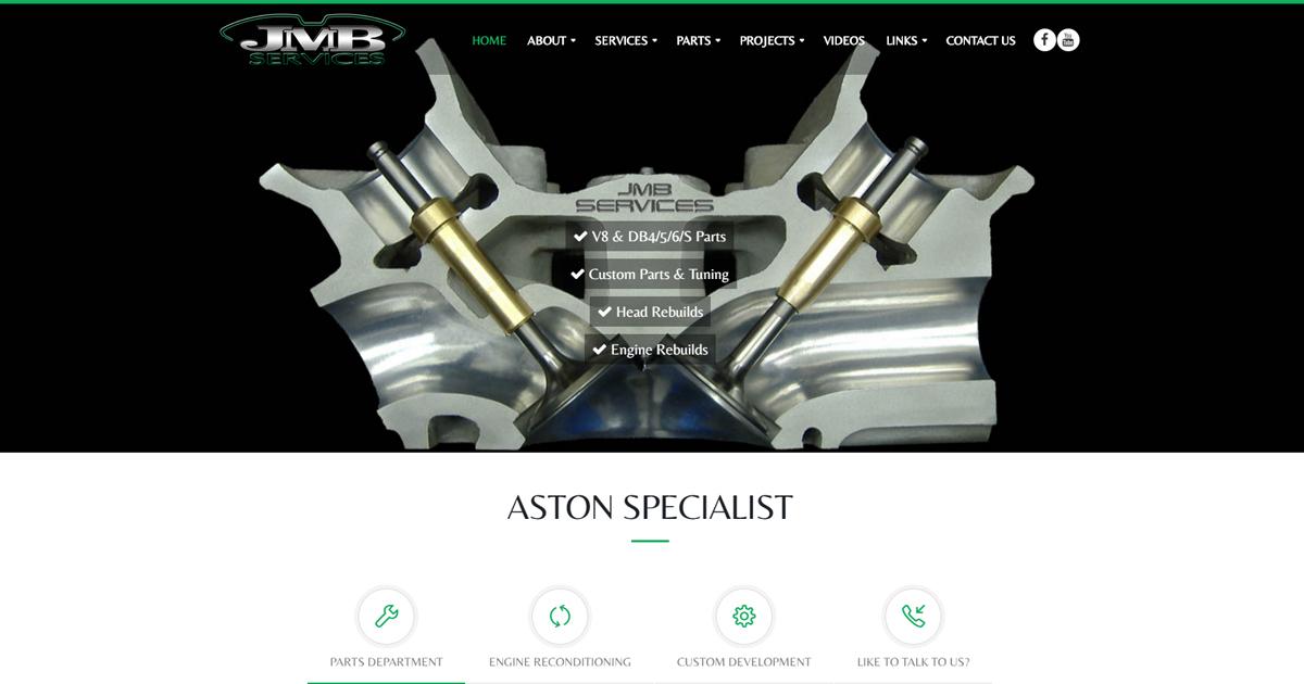 Aston Specialist   Rebuild, Recondition, Parts   JMB Services